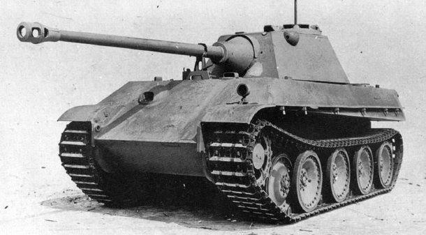 Nekompletní prototyp tanku panther ausf. f na podvozku ausf. g, zdroj
